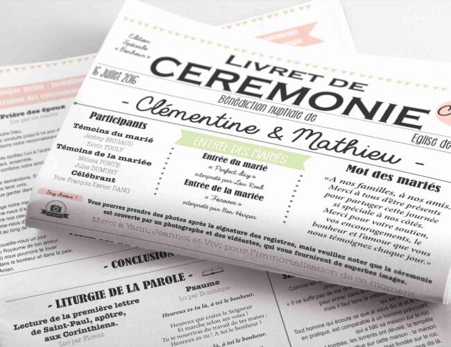 Livret de cérémonie